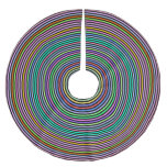 [ Thumbnail: Multicolored Circles/Rings Pattern Tree Skirt ]