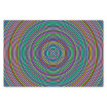 [ Thumbnail: Multicolored Circles/Rings Pattern Tissue Paper ]