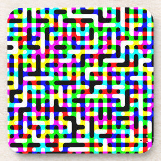 Multicolored Circuits Drink Coaster