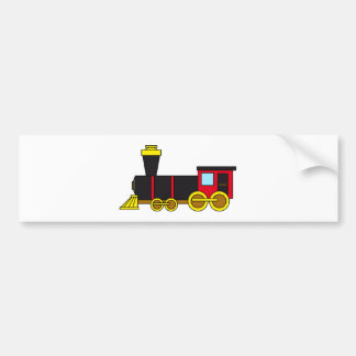 Multicolored Classic Train Locomotive Steam Engine Bumper Stickers