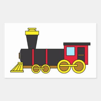Multicolored Classic Train Locomotive Steam Engine Rectangular Sticker