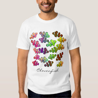 Multicolored Clownfish School T-Shirt