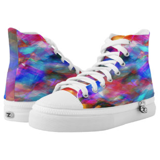 Multicolored Collage High-Top Sneakers