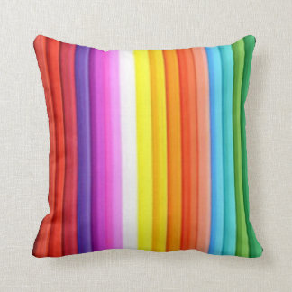 Multicolored Color Pencil Crayons Throw Pillow