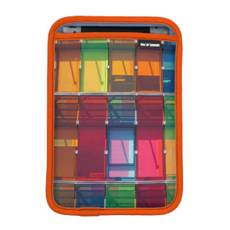 Multicolored commercial building detail iPad mini sleeves