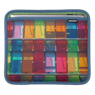 Multicolored commercial building detail sleeves for iPads