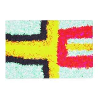 multicolored cool pattern placemat