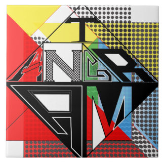 Multicolored Creative Tangram Design by: RokCloneD Tile
