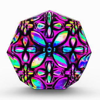 Multicolored Crystals Acrylic Award