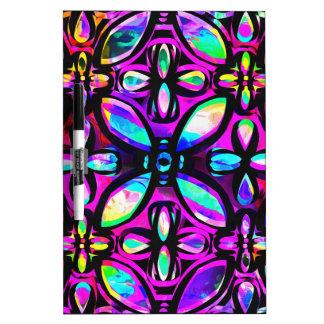 Multicolored Crystals Dry-Erase Board