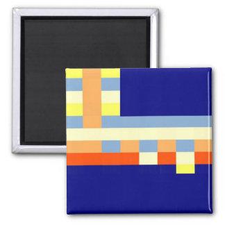 Multicolored cubes magnet