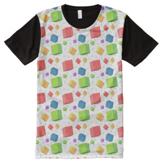 Multicolored cubes pattern All-Over print t-shirt
