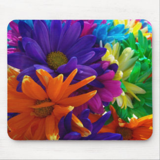 Multicolored Daises Mouse Pads