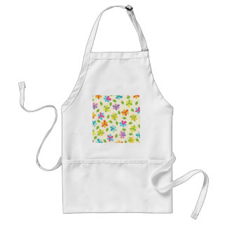 Multicolored Daisies And Leaves Floral Photo Adult Apron