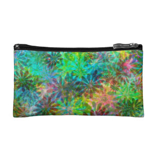 Multicolored Daisy Flowers Bagettes Bag Cosmetic Bags