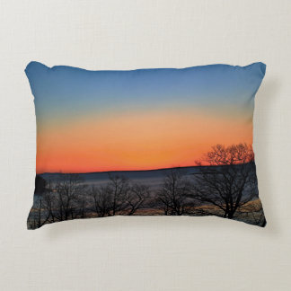 Multicolored Dawn in Rockport, Maine Decorative Pillow