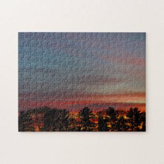 Multicolored Dawn Sky Jigsaw Puzzle