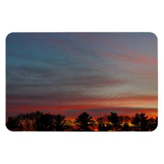 Multicolored Dawn Sky Magnet
