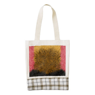 Multicolored decorative modern pattern zazzle HEART tote bag