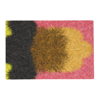 Multicolored decorative pattern placemat