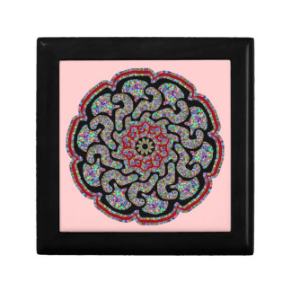 Multicolored design with black and red accents gift box