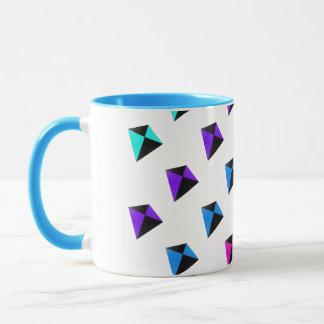 Multicolored Diamond Shaped Kites Pattern Mug