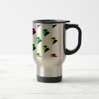 Multicolored Diamond Shaped Kites Pattern 15 Oz Stainless Steel Travel Mug