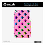 Multicolored Diamond Shaped Kites Pattern iPod Touch 4G Skins