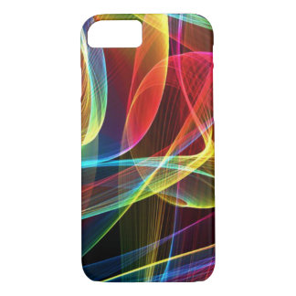 Multicolored Digital Ribbons Pattern iPhone 7 Case