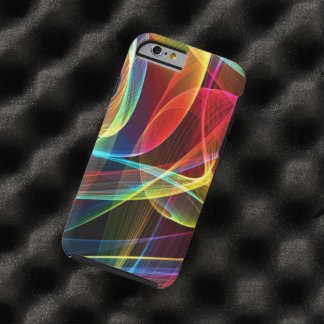 Multicolored Digital Ribbons Pattern Tough iPhone 6 Case