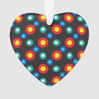 Multicolored disco dots ornament