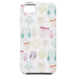 Multicolored Doodle Owls iPhone SE/5/5s Case