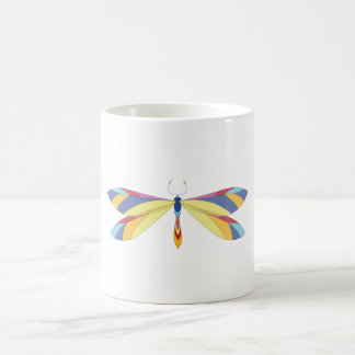 Multicolored Dragonfly Mugs