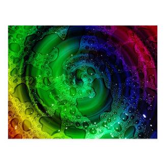 multicolored Drops by Tutti Postcard