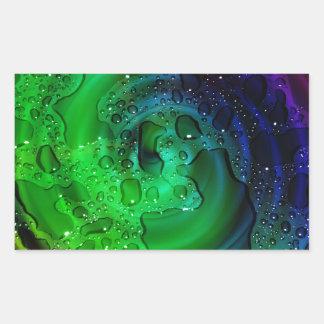 multicolored Drops by Tutti Rectangular Sticker