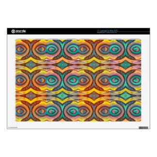 "Multicolored Elegant Geometric   Design Skin For 17"" Laptop"