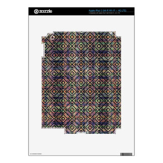 Multicolored Ethnic Check Seamless Pattern Decals For iPad 3