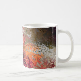Multicolored examined classic white coffee mug