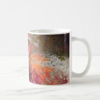 Multicolored examined coffee mug