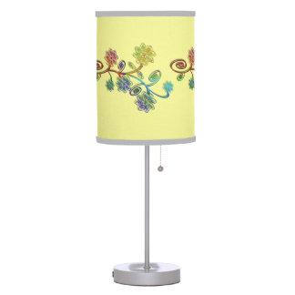 Multicolored examined desk lamp