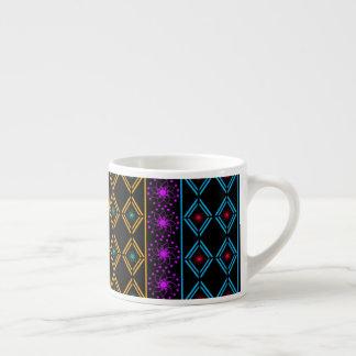Multicolored examined espresso cup