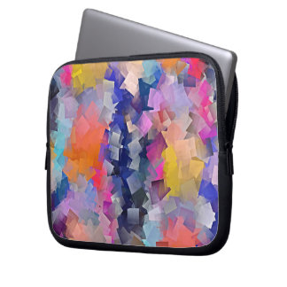 Multicolored examined laptop sleeve