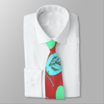Multicolored examined neck tie