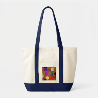 Multicolored examined tote bag