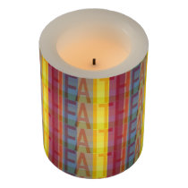 Multicolored Faith Flameless Candle