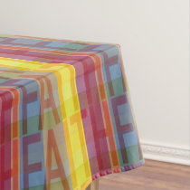 Multicolored Faith Tablecloth
