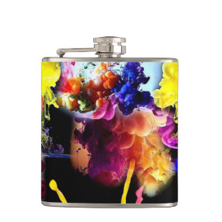 MULTICOLORED flat man Flask
