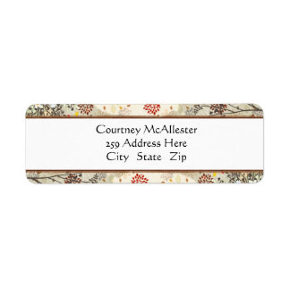 Multicolored Floral Address Labels