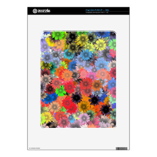 Multicolored floral pattern iPad skin