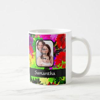Multicolored floral photo background coffee mug
